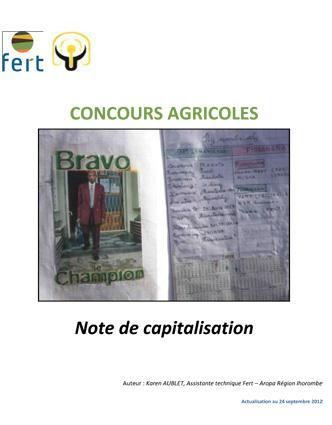 Fert MDG_Note-de-capitalisation-concours-agricole_2012