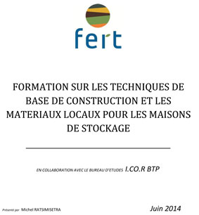 Fert Rapport-formation-batiment stockage