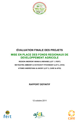Fert Evaluation finale FRDA pilotes Madagascar