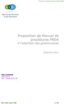 Fert Manuel_procedures_FRDA